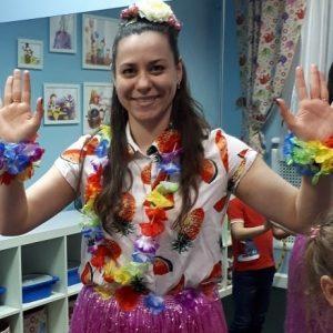 Гавайская вечеринка в детском центре Наши Дети